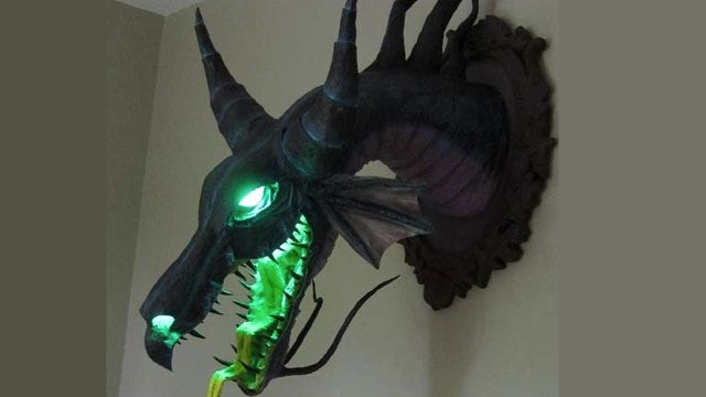 Mount Disney supervillain Maleficent's head on your wall!