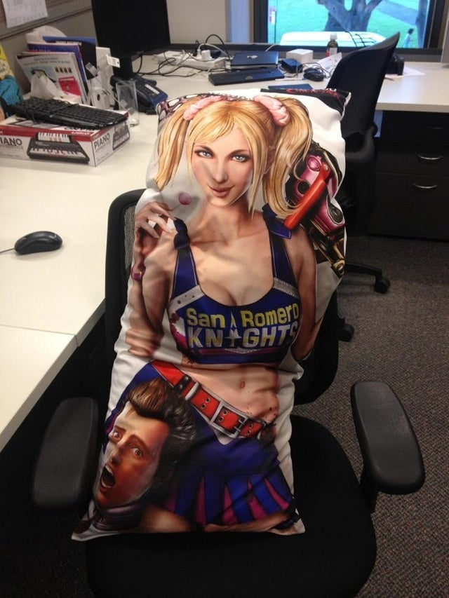 The Story Of a Kotaku Editor And His Lollipop Chainsaw Love Pillow