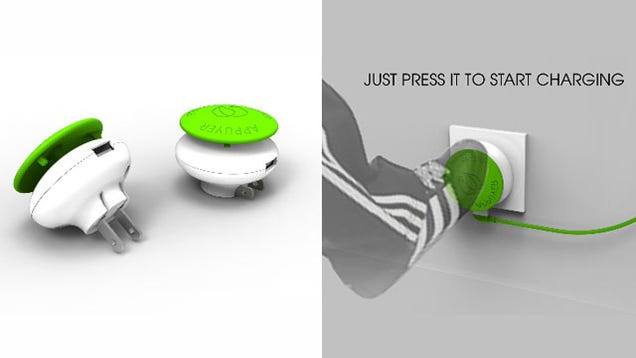 Kick This Giant Green Mushroom to Charge Your Stuff