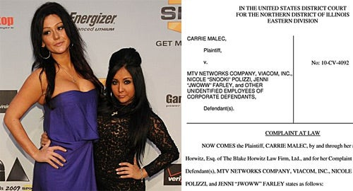 Jersey Shore Shenanigans Spur Suit Against Snooki and JWOWW