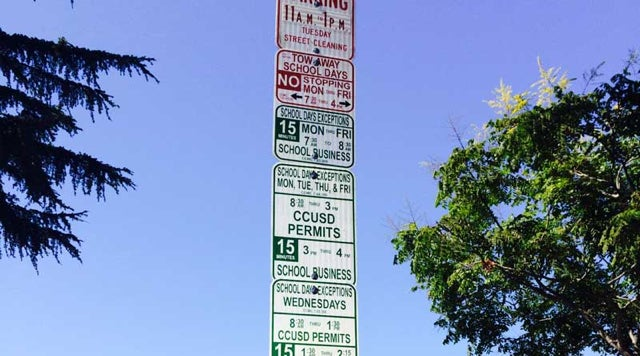 Most Ridiculous Parking Sign Ever Has Been Cut In Half, Still Ridiculous