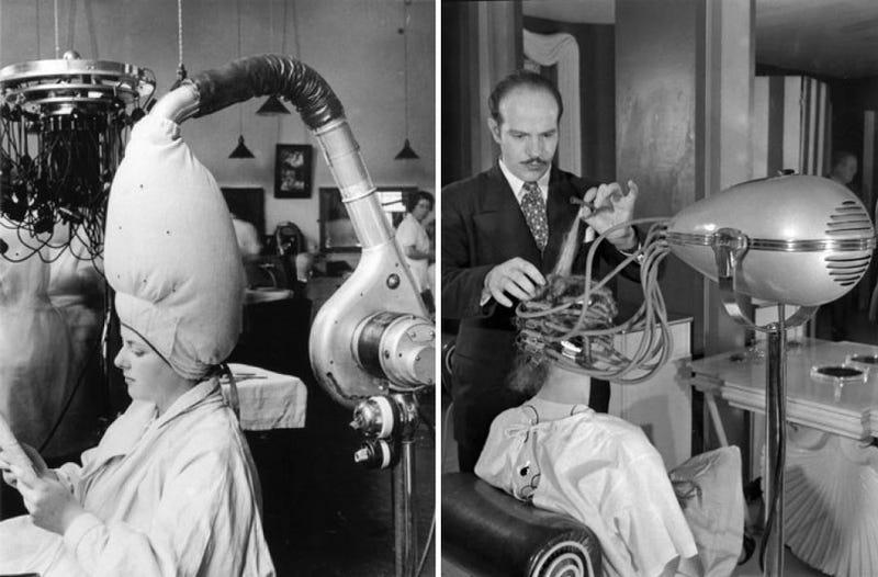 Hair Dryers Used to Look Like Alien Mind-Control Helmets