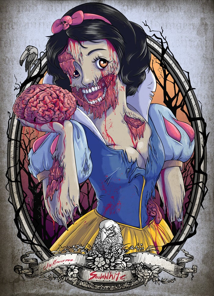 These zombie Disney Princesses are downright childhood-ruining