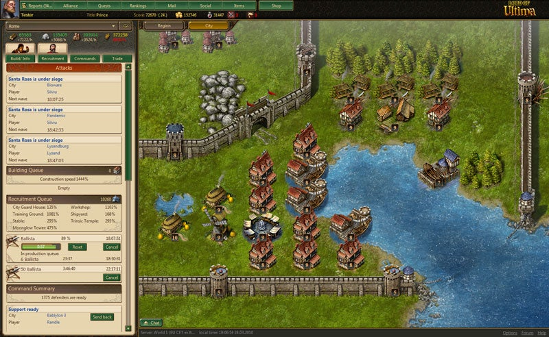 Lord Of Ultima Brings Online Strategy To The Browsing Masses