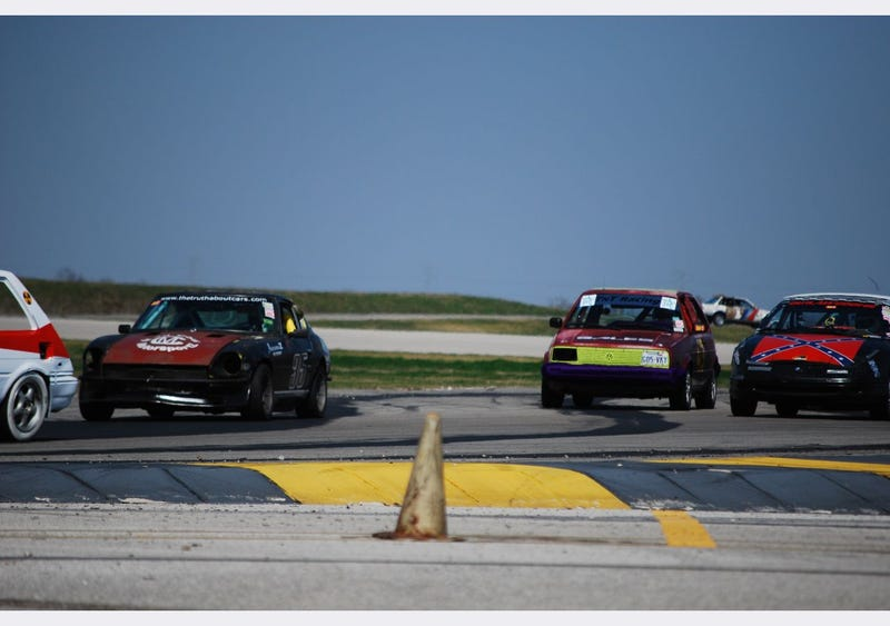 Four Hours Into The Texas Gator-O-Rama 24 Hours Of LeMons, Corolla FX16 In The Lead!