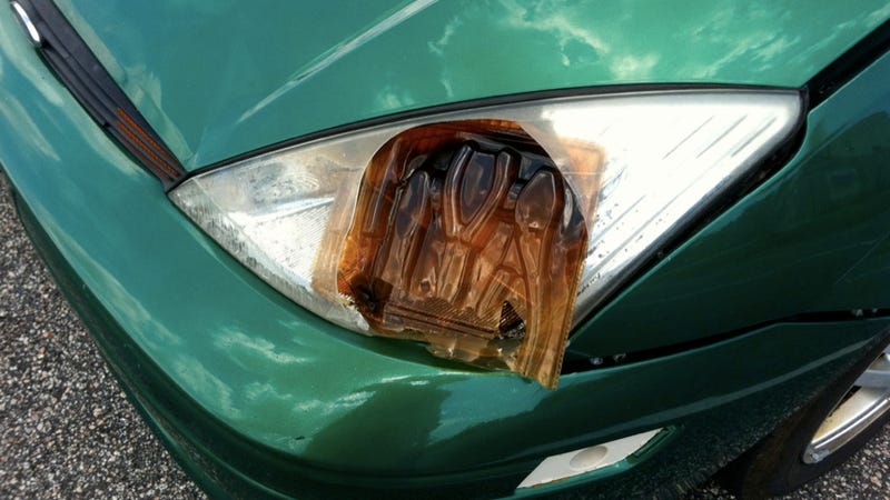 How not to repair your headlight