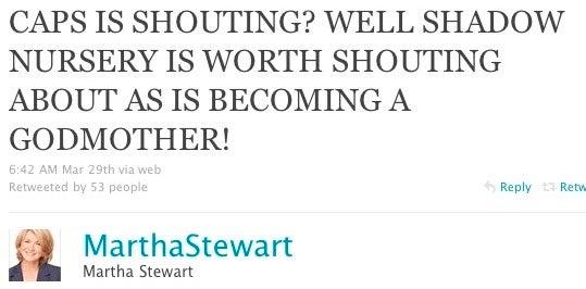 Martha Stewart Refuses To Stop 'Yelling'