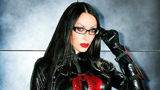 This isn't cosplay, it's actually G.I. Joe's Baroness in real life