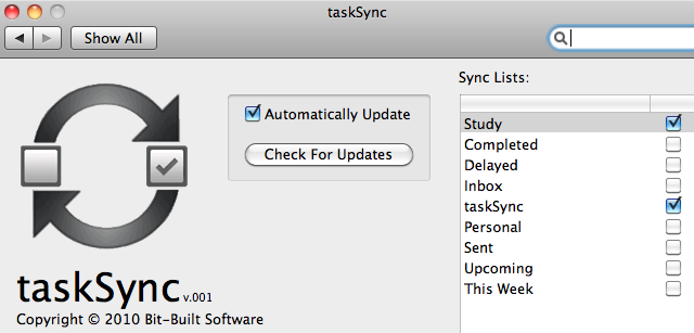 TaskSync Syncs Remember the Milk Tasks to iCal Calendars
