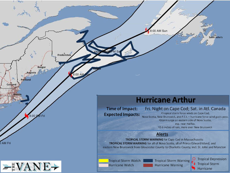 Atlantic Canada Is Next in Line for Hurricane Arthur on Saturday