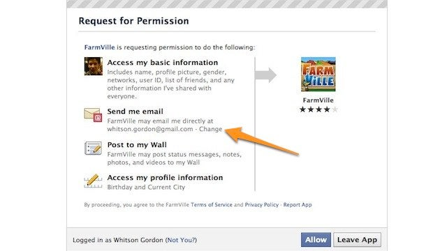 Hide Your Email Address from Third Party Facebook Apps