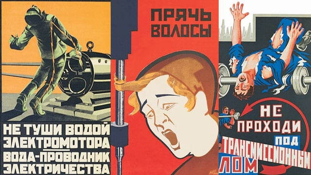 Soviet Safety Posters Were Terrifying and Slightly Hilarious