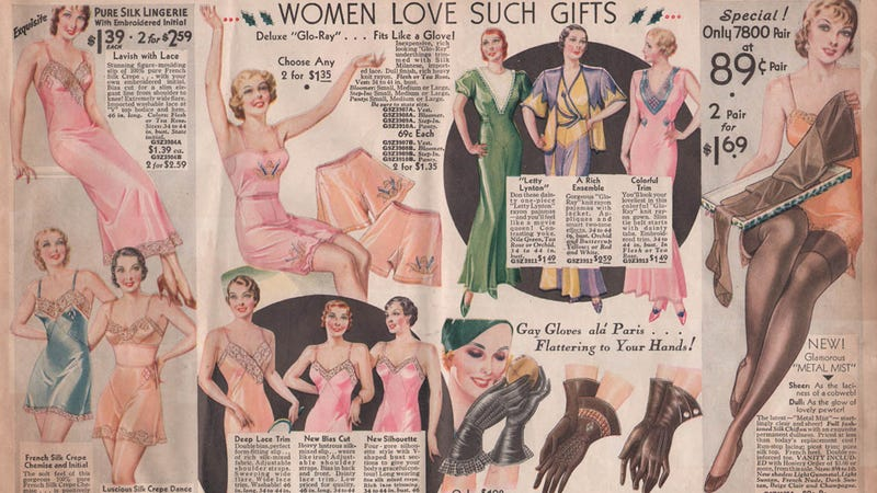 Let's Shop for Unmentionables and Underpinnings in 1933