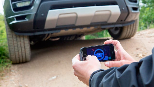 A Smartphone App Turns a Land Rover Into a Giant RC Car