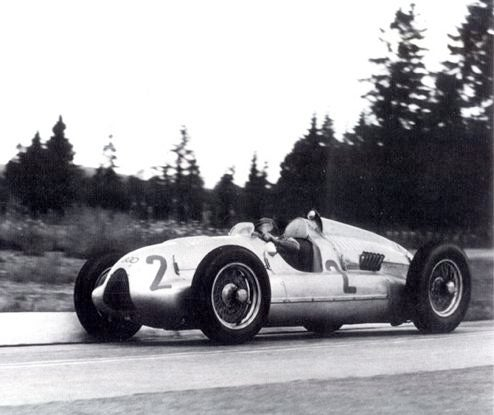 Audi Resurrects Auto Union Type D Racer For Goodwood, Pink Floyd's Mason Behind Wheel