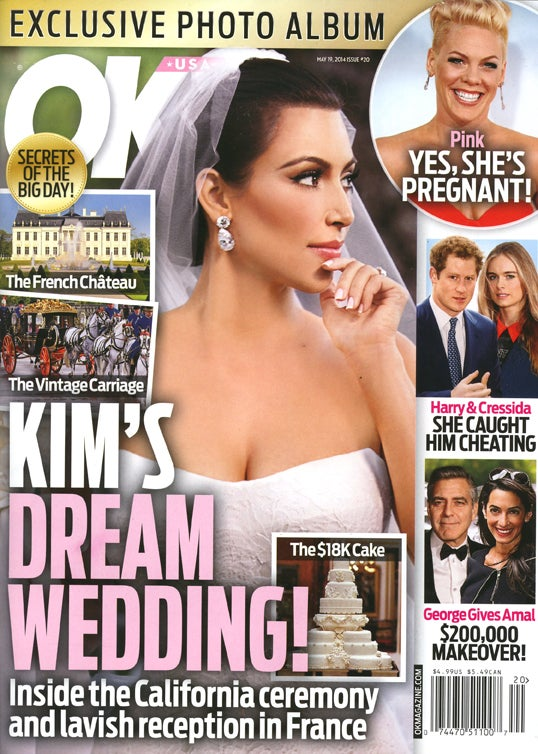 This Week in Tabloids: Faked Pix of Kim Squeezing Into Wedding Dress