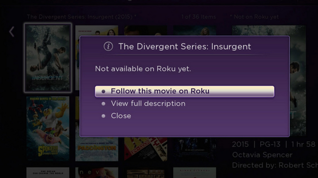 Roku Feed Tells You When New Movies Drop in Price