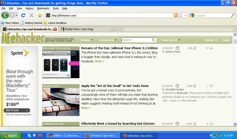Maximize Firefox 3.5's Viewing Area for Your Netbook