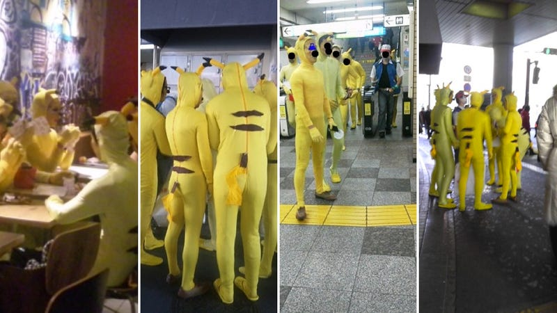 Weirdo Pikachus in Tokyo, Taking Trains and Eating Burgers