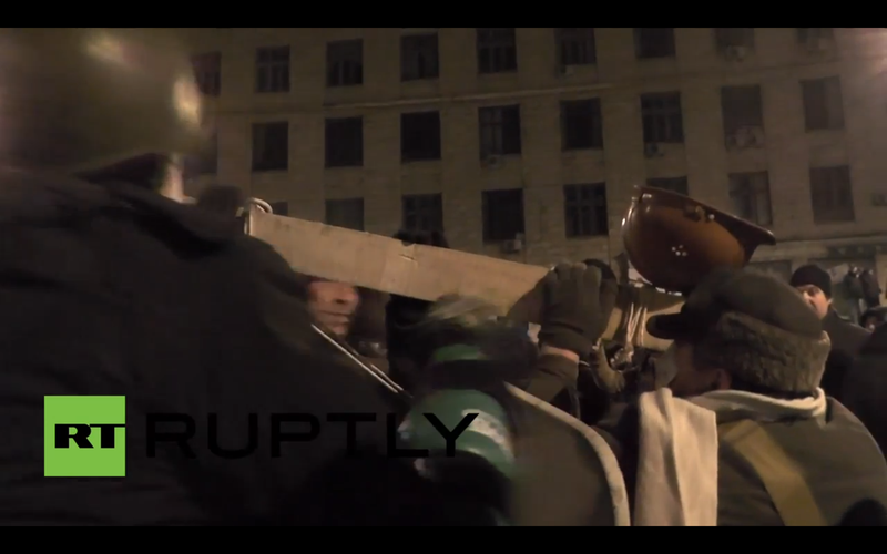 Ukraine Protesters Have a Goddamn Catapult Now, and it Works Very Well