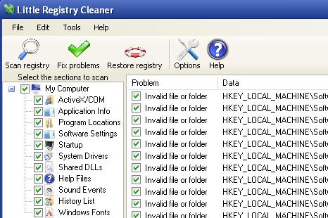Little Registry Cleaner Dumps Your Registry Junk