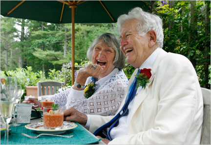 Scoring Sunday's Nuptials: Old People Like To Do It, Too