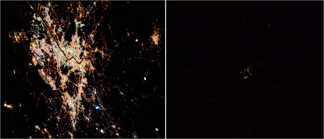 This Is What Seoul and Pyongyang Look Like at Night