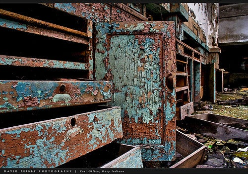 The Stately Ruins Of A Methodist Church: Gary, Indiana, USA