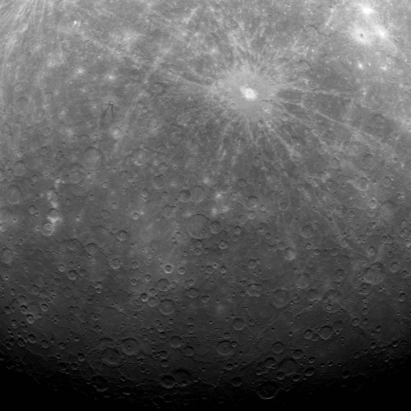 First-ever image of Mercury from orbit
