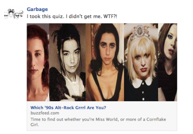 Shirley Manson Takes BuzzFeed's Alt Grrrl Quiz, Doesn't Get Herself