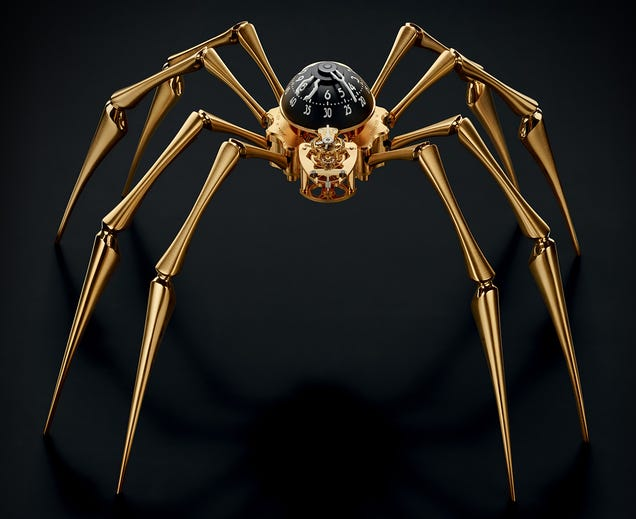 Hate Spiders? Then This Is the Last Clock You'll Want Hanging on Your Wall