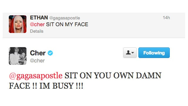 Cher Is Too Busy to Sit On Your Face
