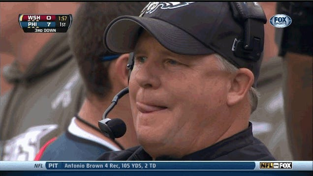 Chip Kelly Does Weird Things With His Tongue