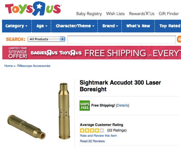 Head Down to Toys 'R' Us for Your Rifle Supplies