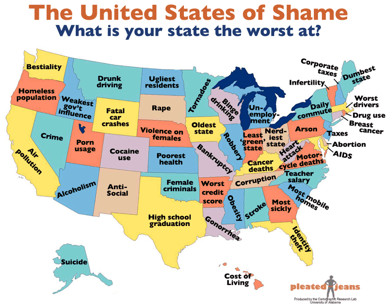 What Does Your State Suck Most At?