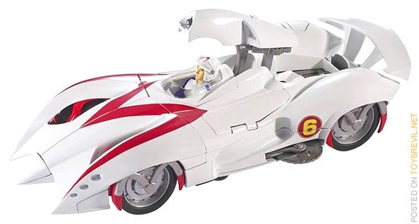 Speed Racer Battle Morph Mach 5 Slices, Dices, Still Finishes First