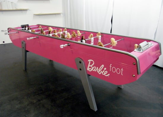 Barbie Foosball Creeps Me Out While Simultaneously Exciting Me