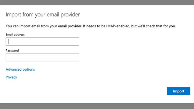 Outlook.com Can Now Import Mail from Other IMAP Mail Services