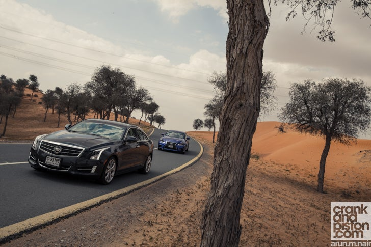 Cadillac ATS vs Lexus IS350 F-Sport. Fighting back