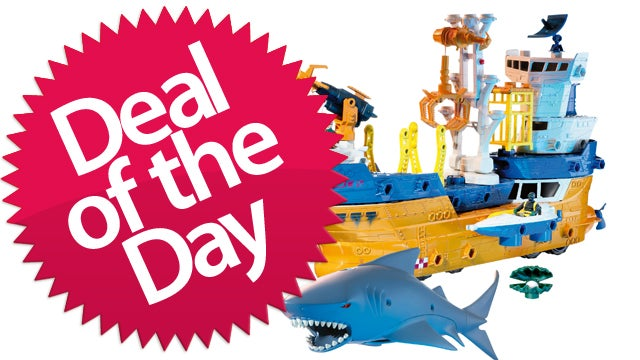 This Mega Rig Shark And Ship Set Is Your Because-Children-Love-Sharks Deal of the Day