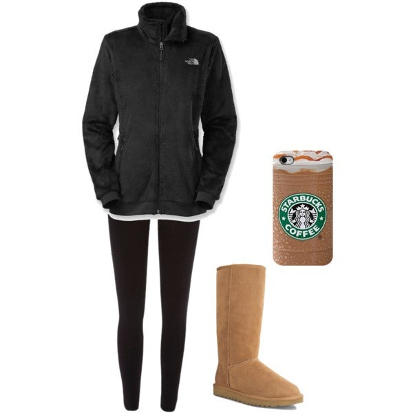 white girl uggs north face