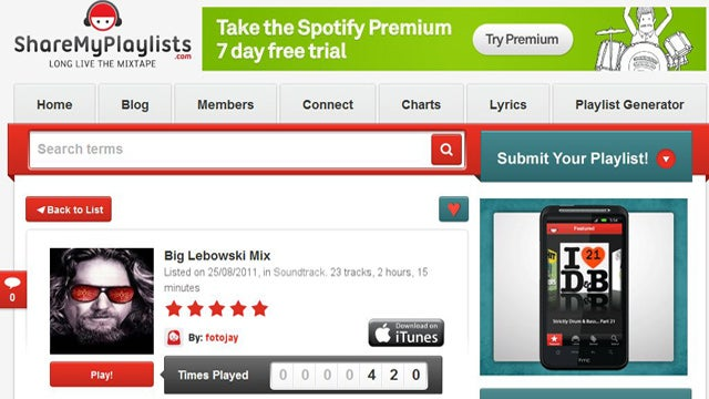 ShareMyPlaylists Automatically Generates Spotify Playlists Based on Your Favorite Bands