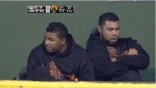 A Very Important GIF Of A Giants Reliever Farting On His Teammate