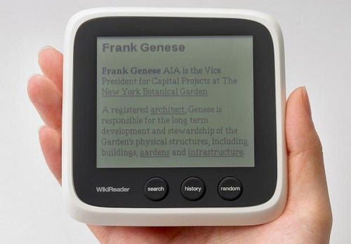 WikiReader Puts Wikipedia in Your Pocket, Forgets We're in 2009