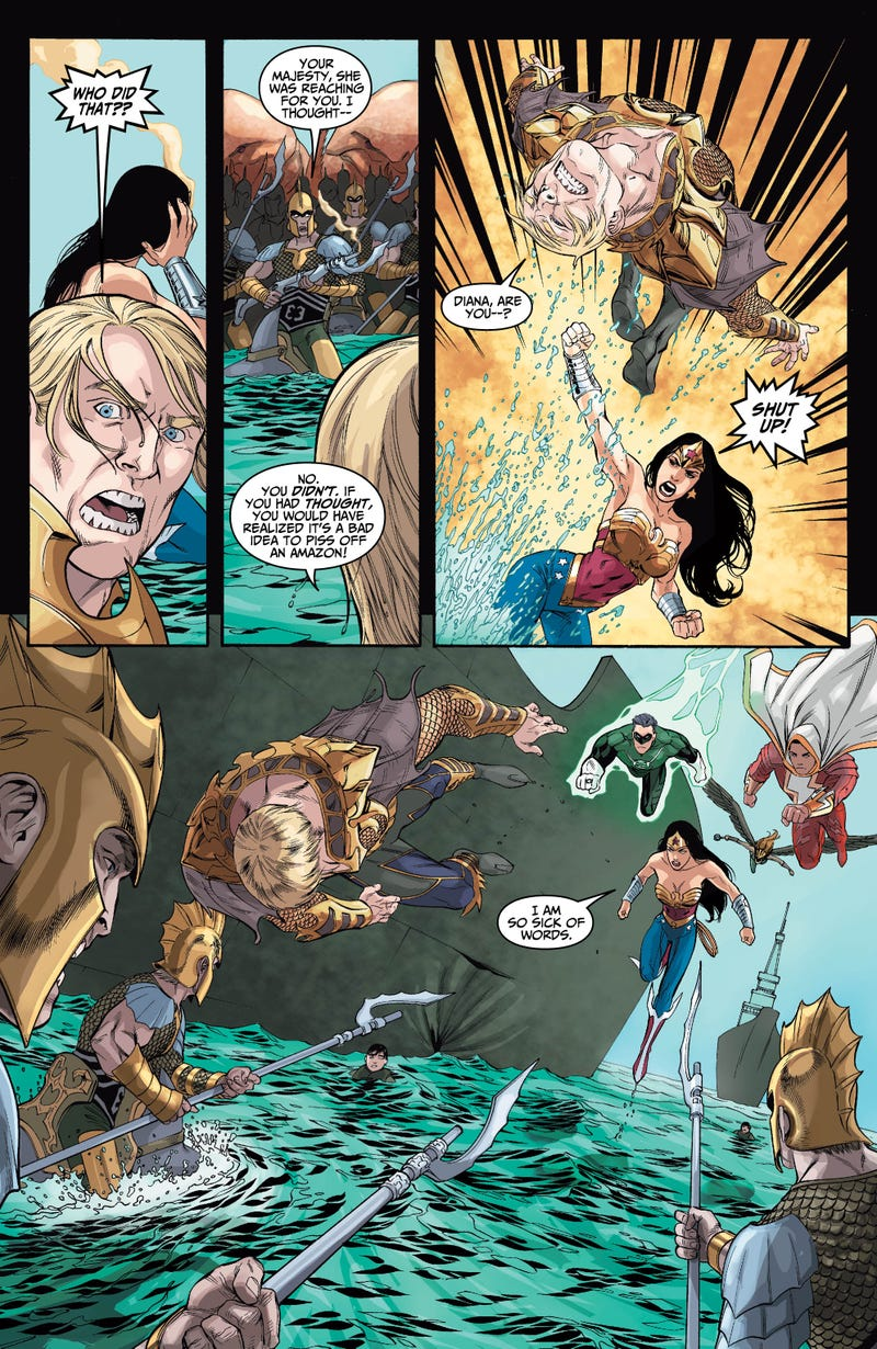 Aquaman Isn't Happy In This Preview of Next Week's Injustice #4