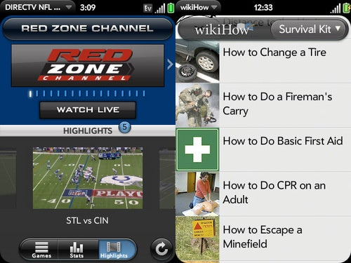 New Palm Pre Apps: Live Sunday Football, Translators and WikiHooooow