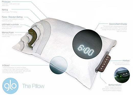Glo Pillow Simulates Sunrise to Gently Wake You Up