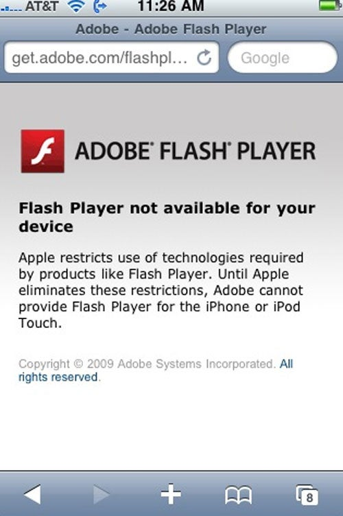 Adobe Gets Sharky Snarky With Apple's iPhone Flash Ban