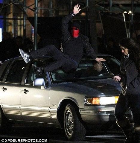 Amazing Spider Man Set Pics