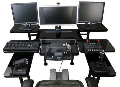 Digital Edge Gaming Table Provides Three Tiers of Peripheral Storage